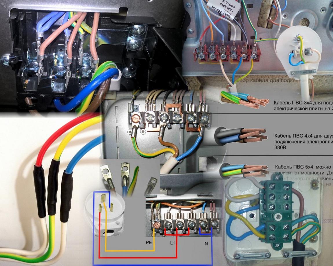 Подключение электроплиты своими руками: схемы подключения в квартире
