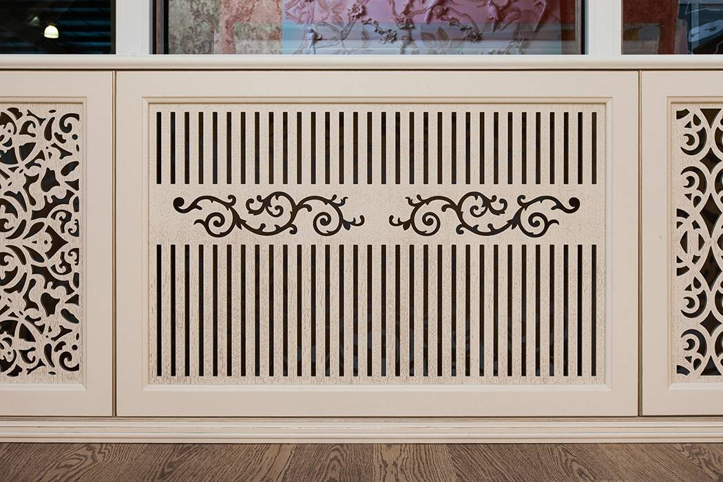 Виды декоративных элементов для отопления: описание видов экранов, панелей и накладок