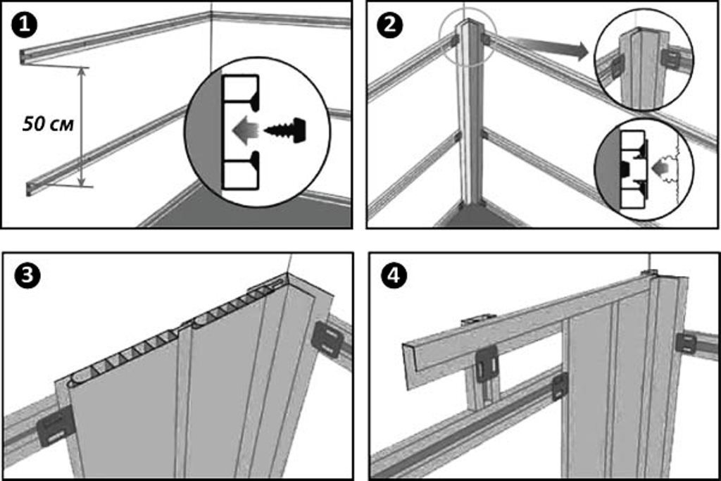 Как правильно сделать обрешетку для пластиковых панелей