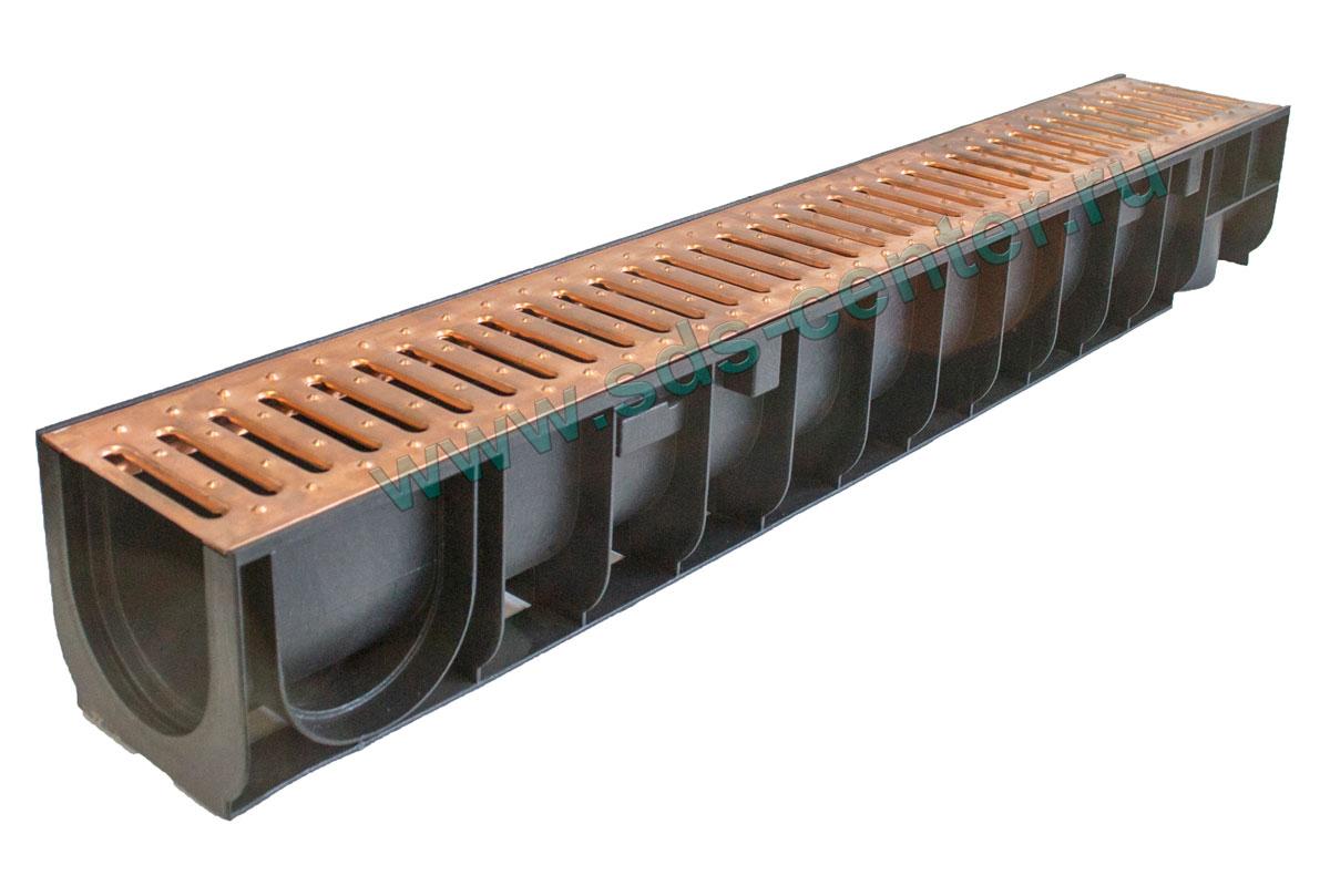 Как установить пластиковый водоотводный лоток с решеткой