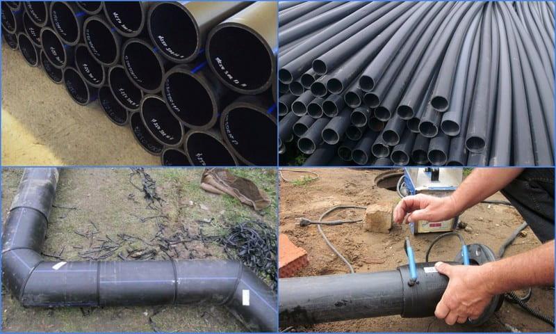 Этапы монтажа труб для ливневки