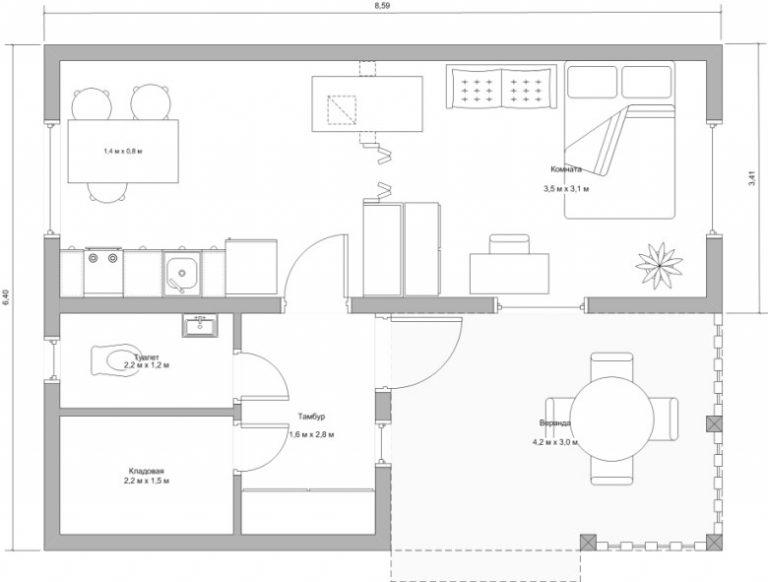 Оформление проекта дома с печкой для отопления