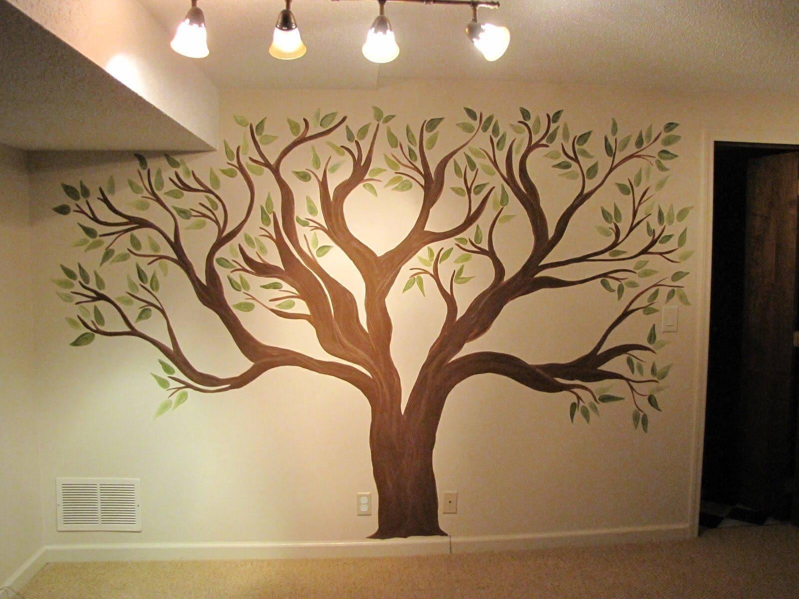 Дерево на стене своими руками: фото, как смотрится стена под дерево и процесс отделки стен ламинатом