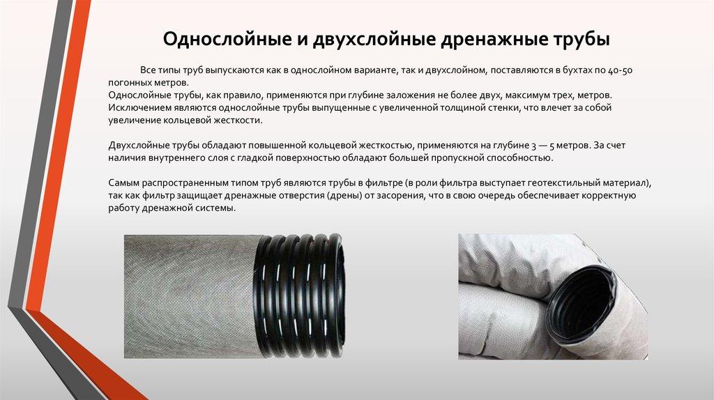 Принцип работы дренажной трубы с перфорацией