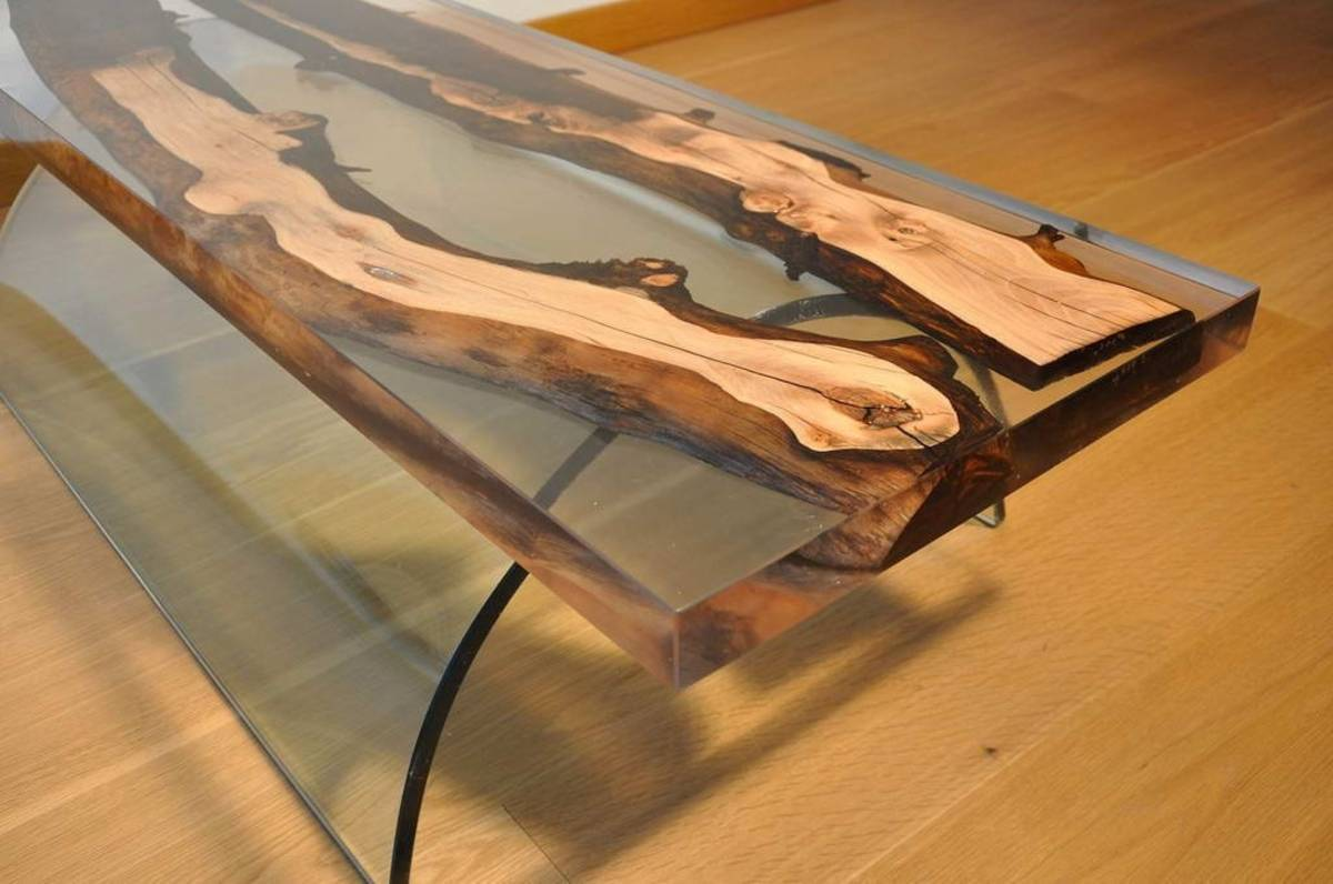 Столешница из эпоксидной смолы — делаем оригинальный стол