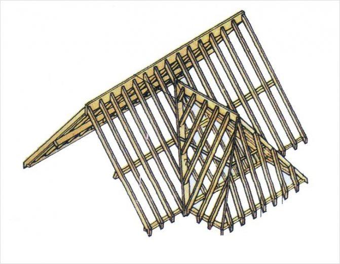 Как сделать трехскатную крышу своими руками