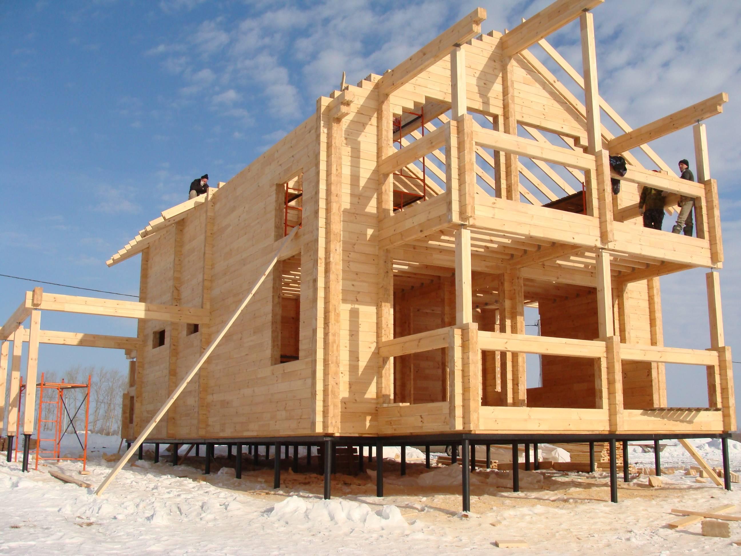 Как построить дом из бруса: технология + фотоотчет + видео