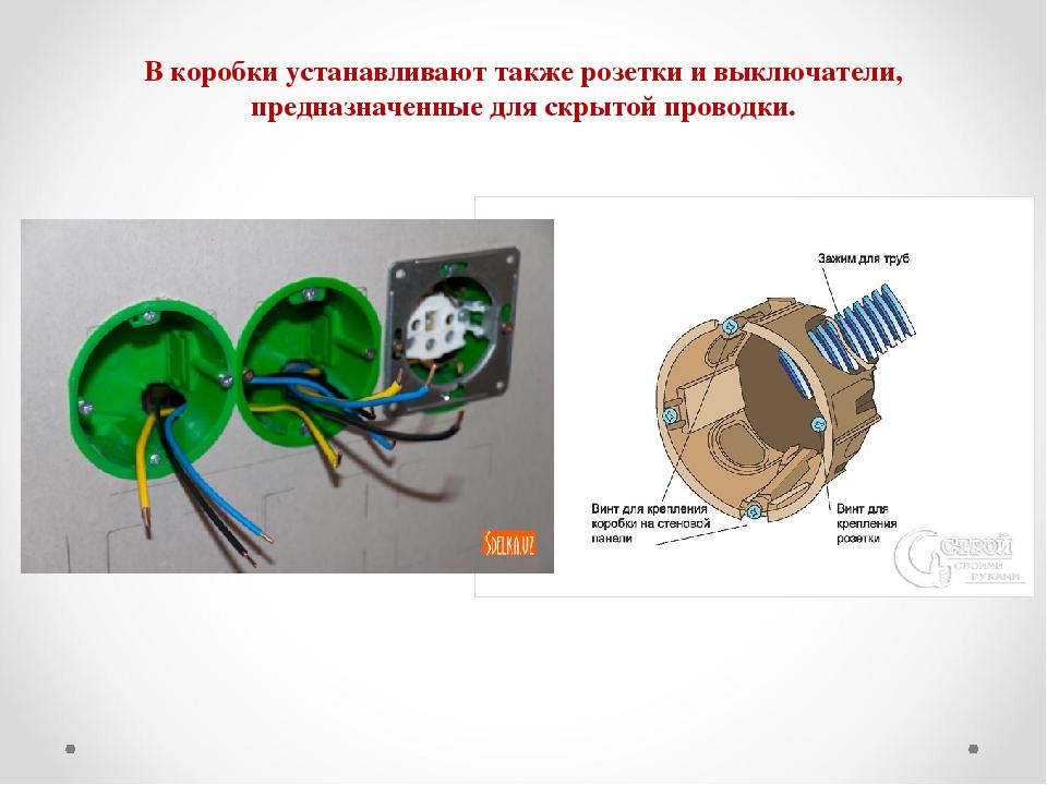 Коробка для розеток и выключателей скрытой установки