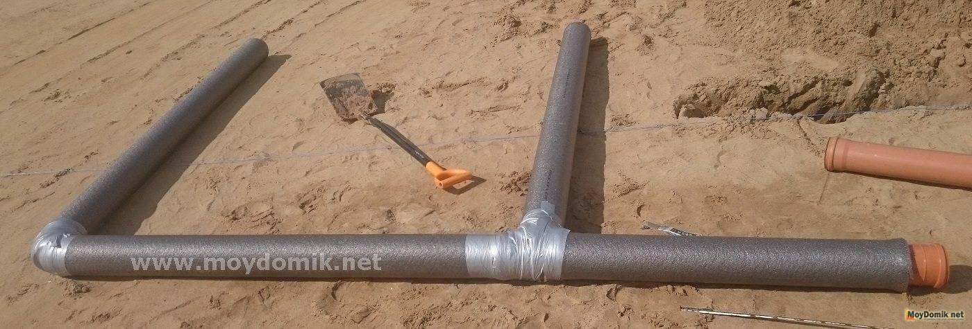 Как утеплить канализационные трубы в частном доме своими руками