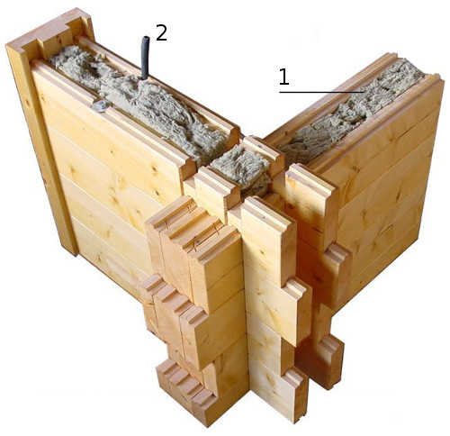 Деревянный кирпич для строительства дома