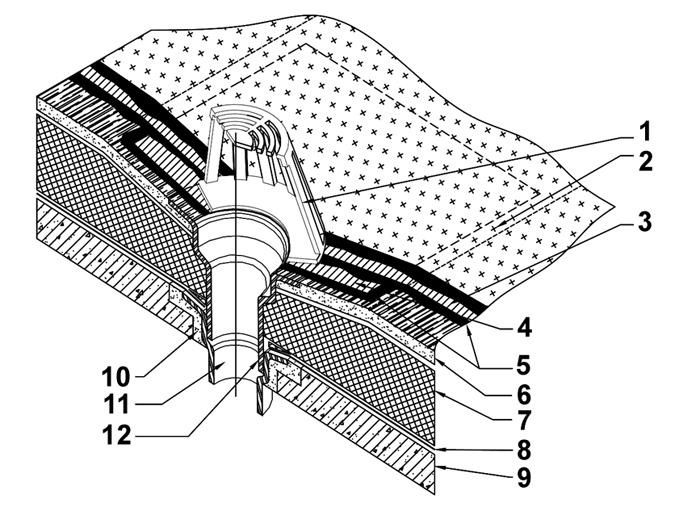 Размеры кровельных водосточных воронок ТехноНиколь