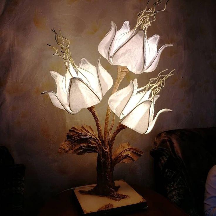 Самодельные светильники из изолона — кукла, цветы и мяч
