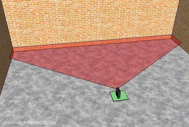Выравнивание фундамента по горизонту раствором после заливки