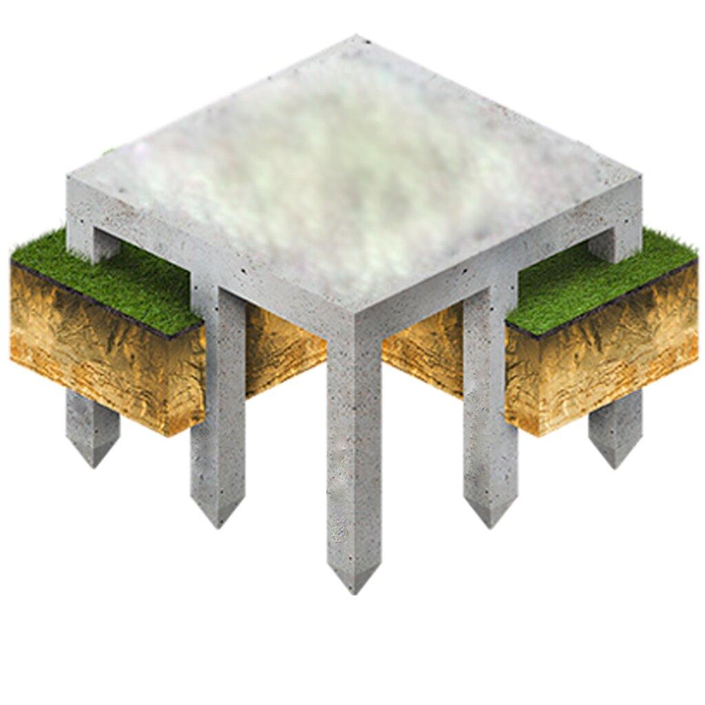 Предназначение свайно-плитного фундамента