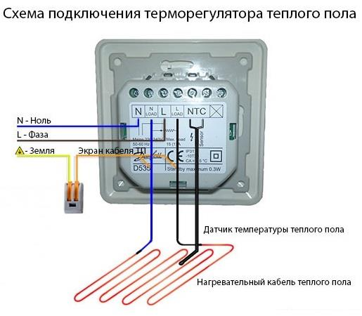 Установка и правила эксплуатации датчиков теплого пола
