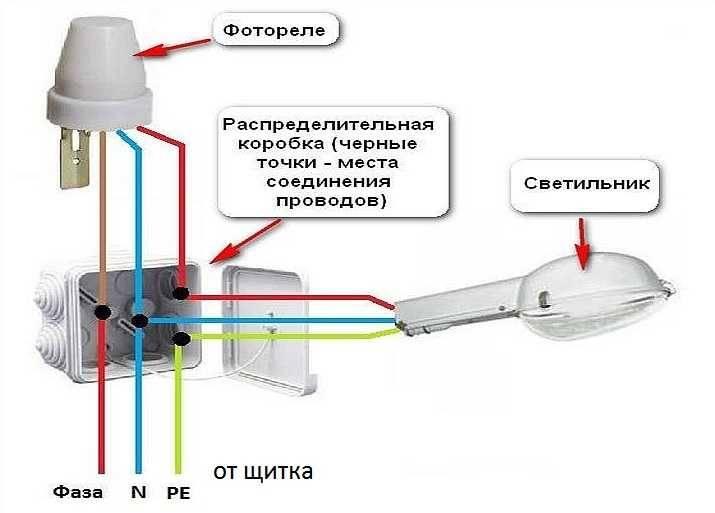 Датчик света (фотореле) для уличного освещения