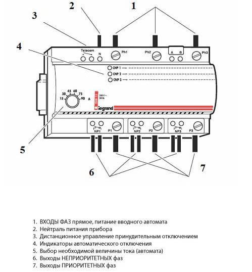 Схема и принцип действия реле контроля напряжения