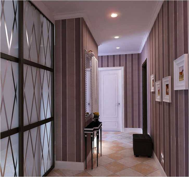 Обои в коридор: выбор типа, цвета, комбинирование
