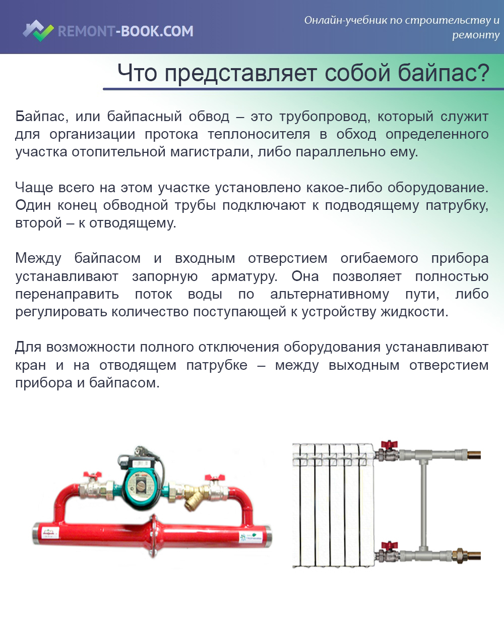 Назначение байпаса в системе отопления: расчет, диаметр и особенности обустройства