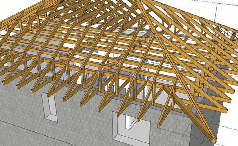 Как сделать шатровую крышу своими руками