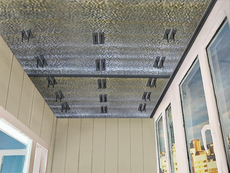 Лучший вариант отделки потолка балкона или лоджии