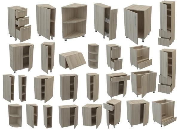 Недорогие модульные (сборные) кухни: виды шкафов, принцип компоновки
