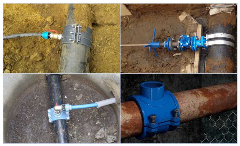 Как использовать хомут для врезки в водопроводную трубу
