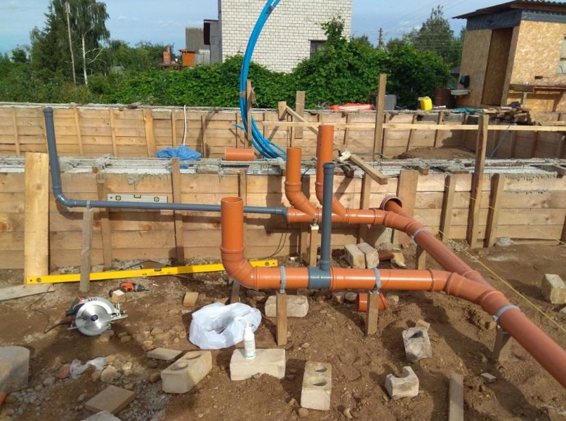 Цена за работу по монтажу канализации из пластиковых труб