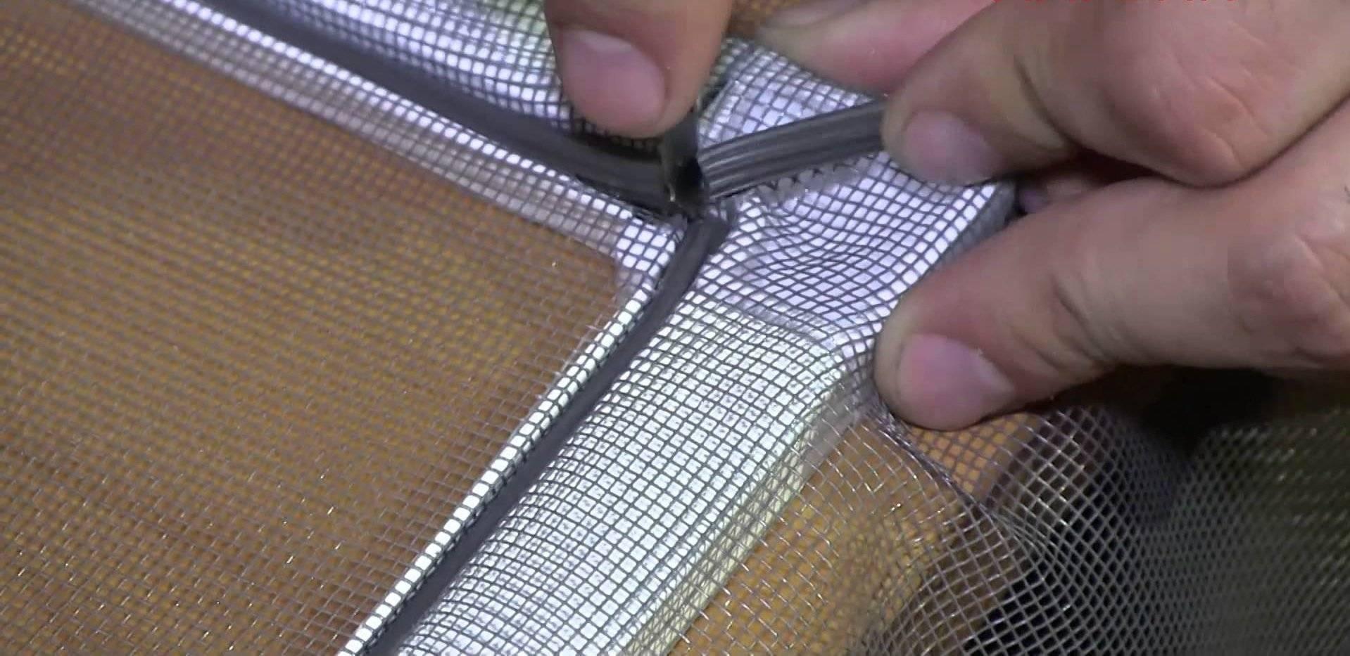 Как установить москитную сетку