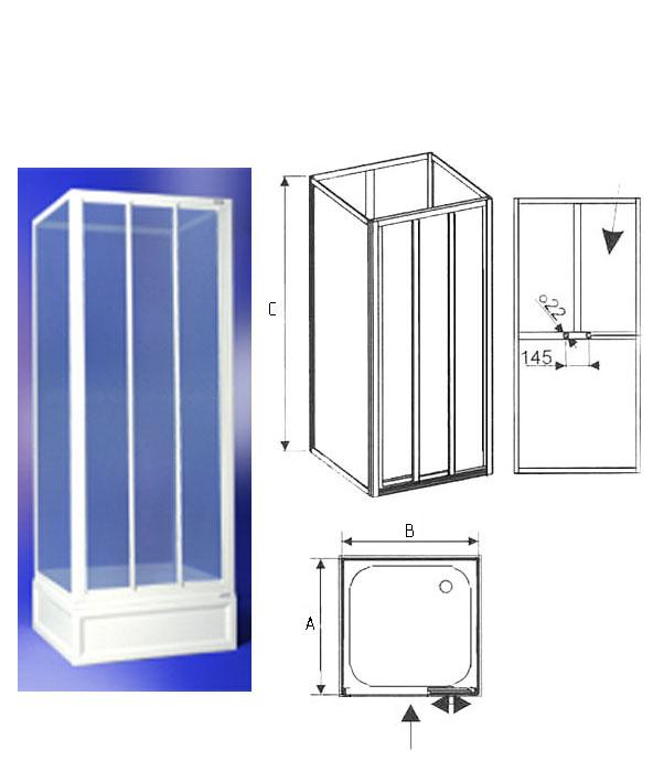 Габариты (размеры) и формы душевых кабин