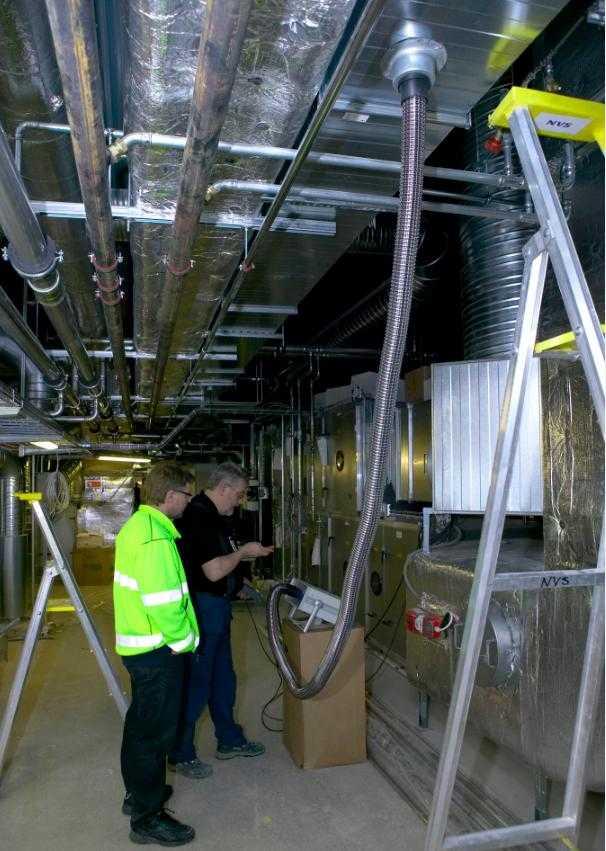 Испытание вентиляции: проверка расхода воздуха, кратности воздухообмена, производительности