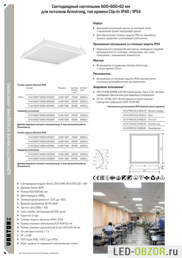 Потолочные светодиодные светильники Армстронг: монтаж и ремонт своими руками