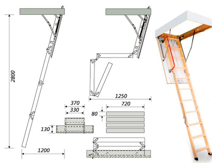 Как сделать раскладную лестницу для чердака