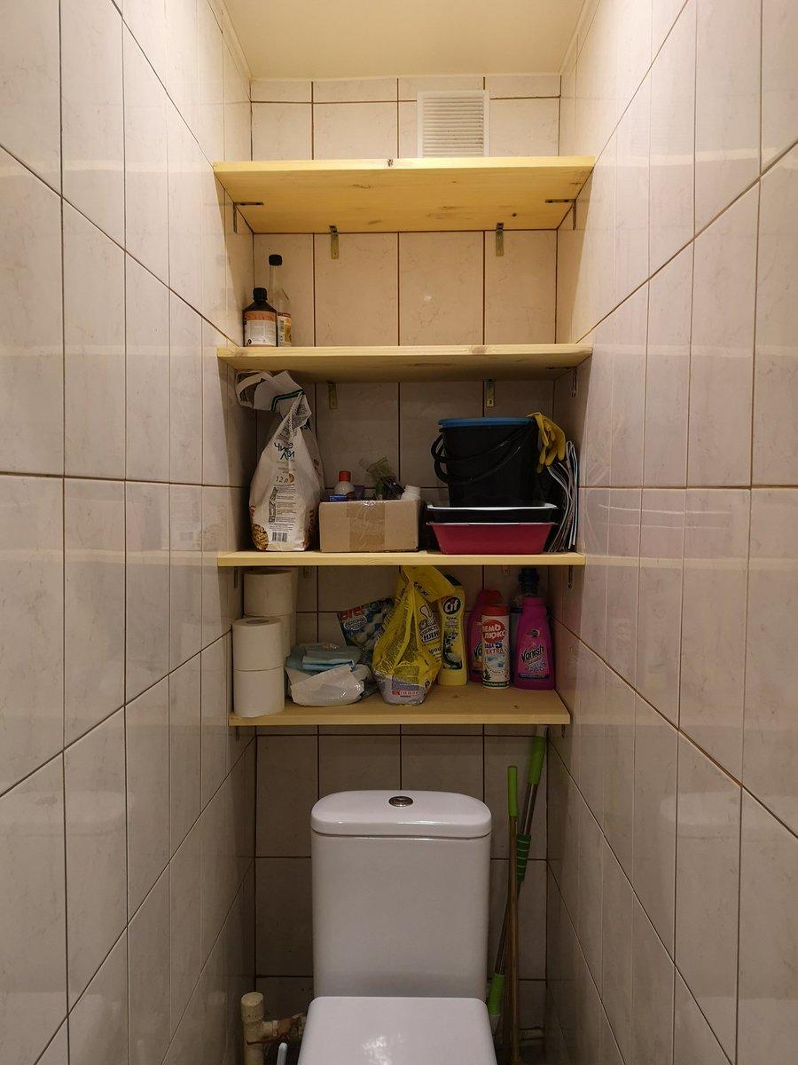 Шкафчик в туалет над или за унитазом — варианты и идеи
