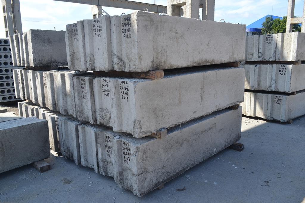 Сколько весит бетонный блок ФБС и его описание