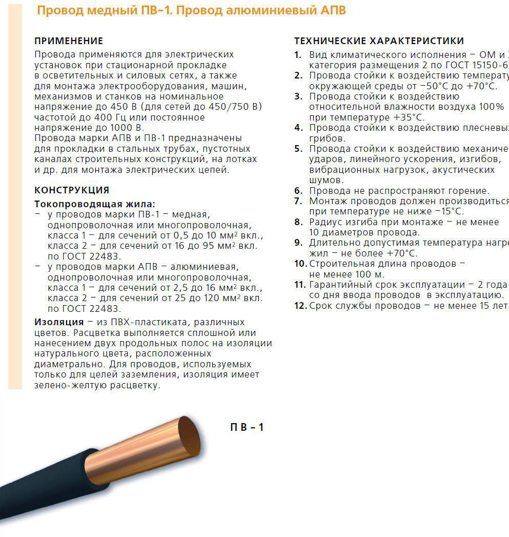 Расшифровка маркировки и области применения кабеля ВВГ