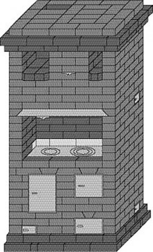 Как сложить отопительно-варочную печь шведку своими руками