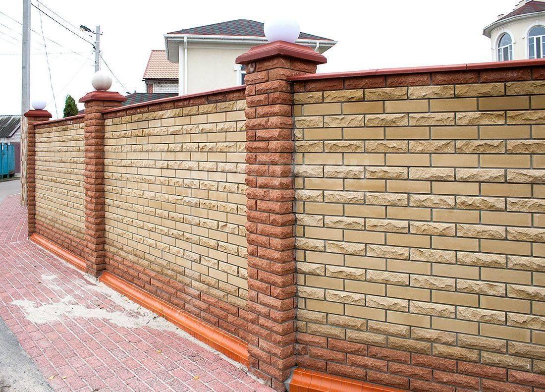 Строительство кирпичного забора для своего дома: описание процесса