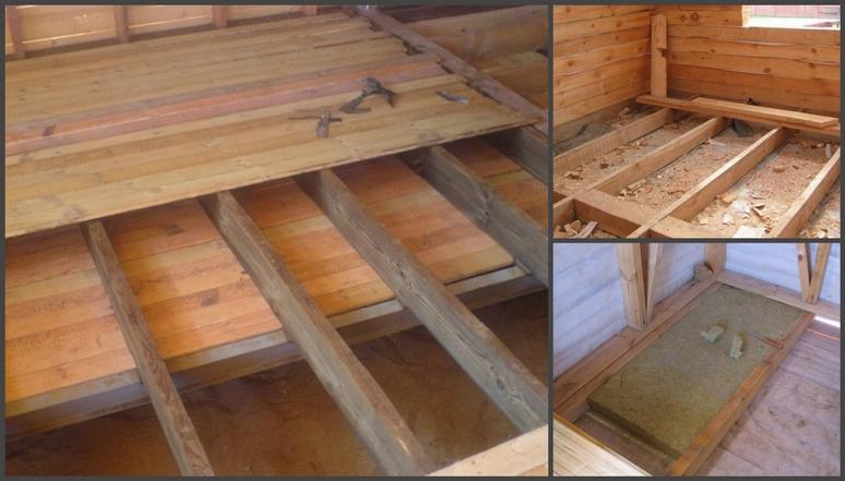 Монтаж чернового пола в деревянном доме своими руками