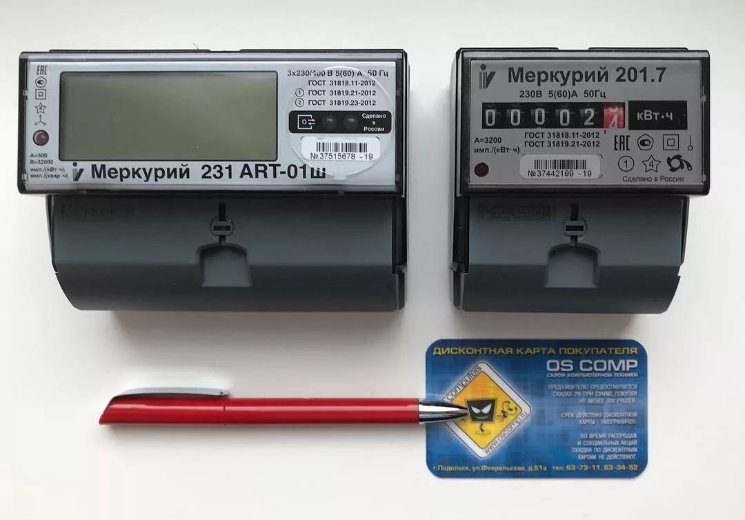Описание и виды счетчиков электроэнергии Меркурий